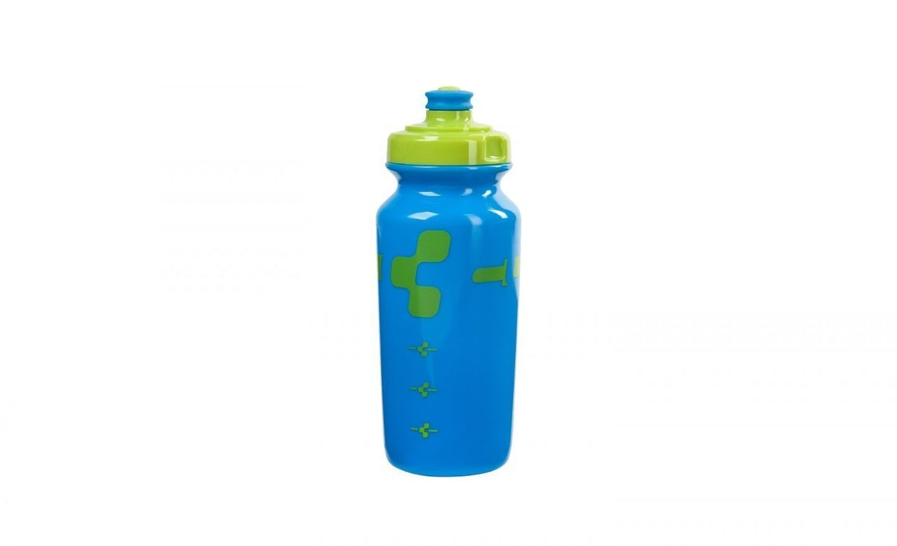 Фляга  CUBE LOGO BOTTLE 0,5L lime/blue