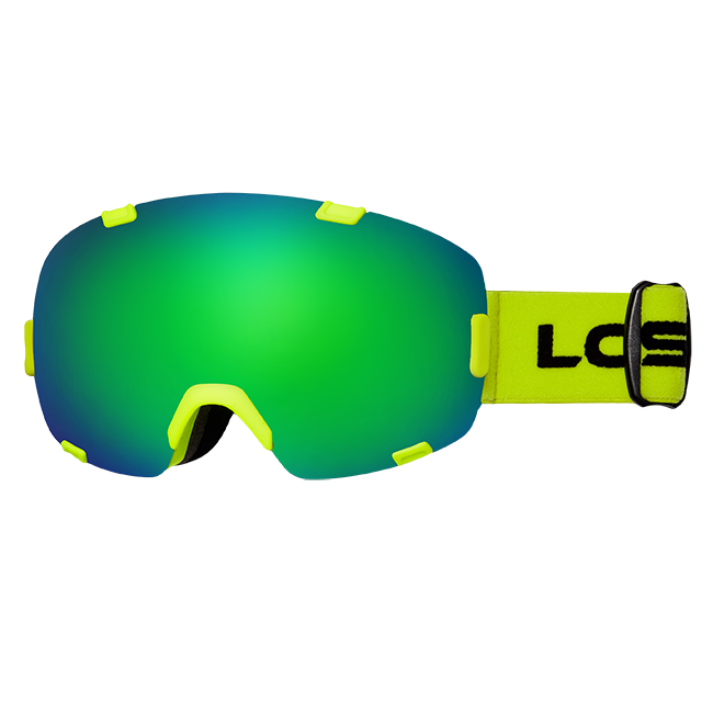 Горнолыжная маска Losraketos Apex Green Mirror/Yelow