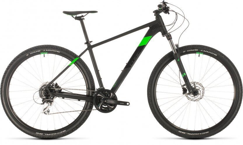 ВЕЛОСИПЕД CUBE AIM RACE 27.5 BLACK / FLASHGREEN (2020)