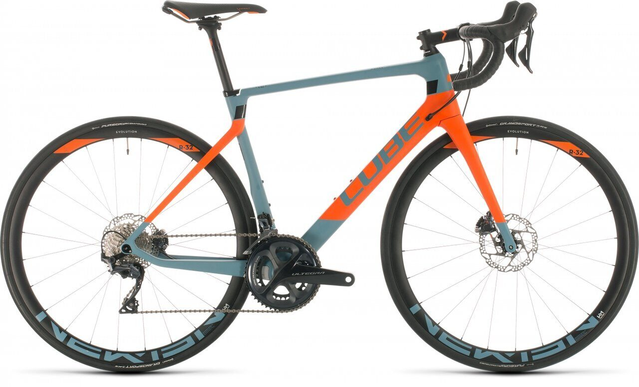 ВЕЛОСИПЕД CUBE AGREE C:62 RACE BLUEGREY / ORANGE (2020)
