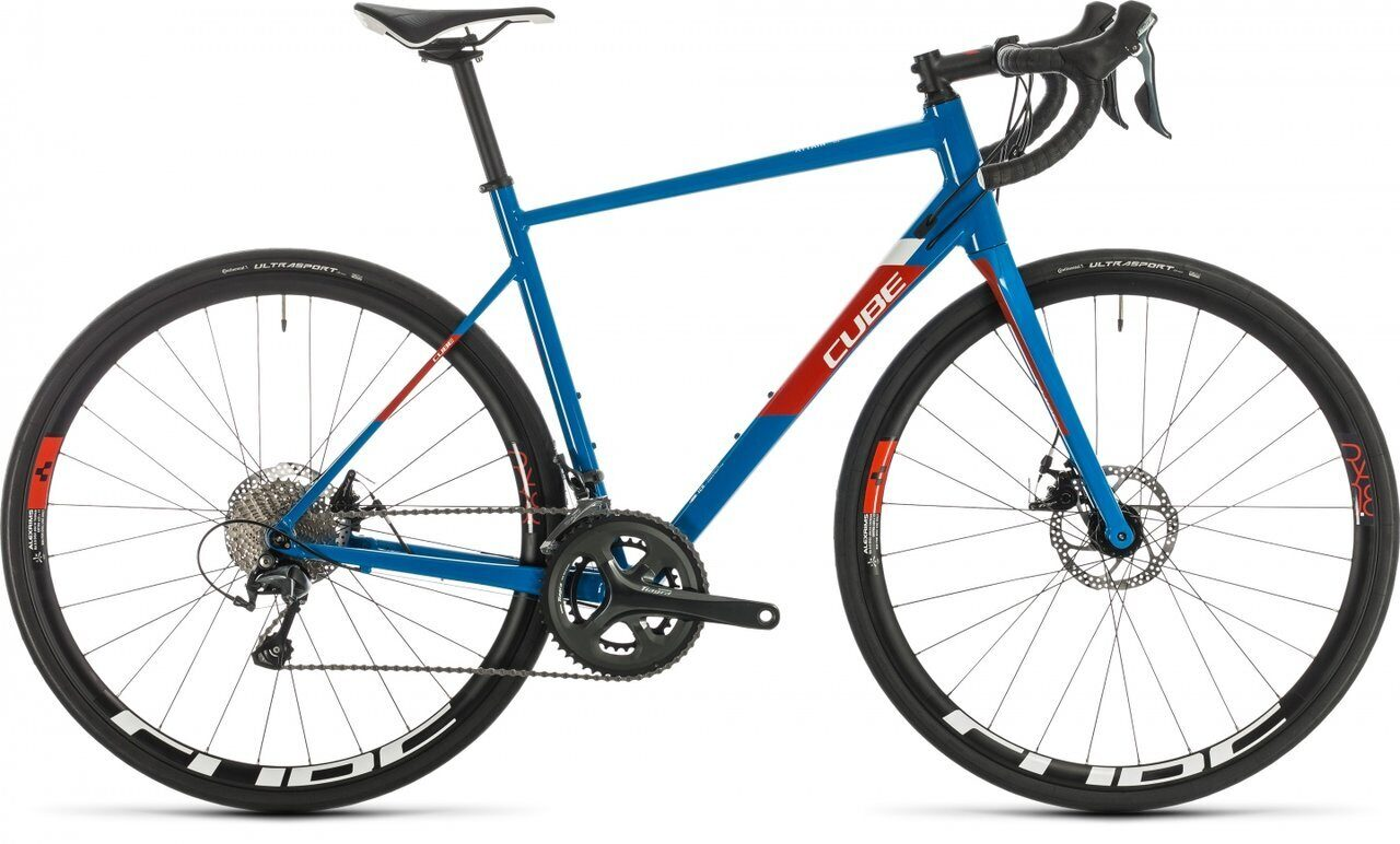 Велосипед CUBE 2020 ATTAIN RACE blue´n´red